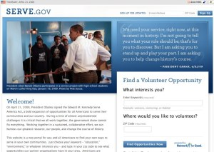 The new Serve.gov website